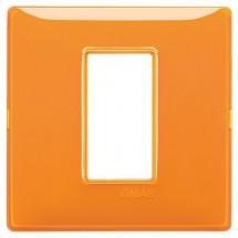 Placca Vimar Plana Reflex Arancione 1, 2, 3, 4 Moduli Arancio Tecnopolimero