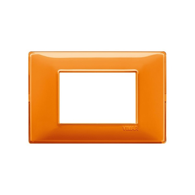 placche vimar plana arancioni, 3 moduli posti, effetto riflettente reflex, codice 14653.48, migliori offerte prezzi online