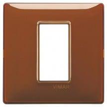 Placca Vimar Reflex Tabacco 1, 2, 3, 4 Moduli Tecnopolimero