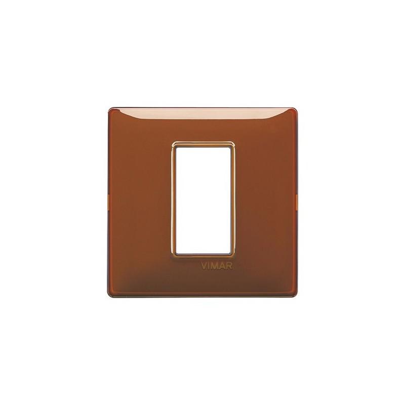 Placca 1 Modulo Centrale reflex riflettente colori tabacco miglior prezzo online vendita catalogo e listino codice 14641.49