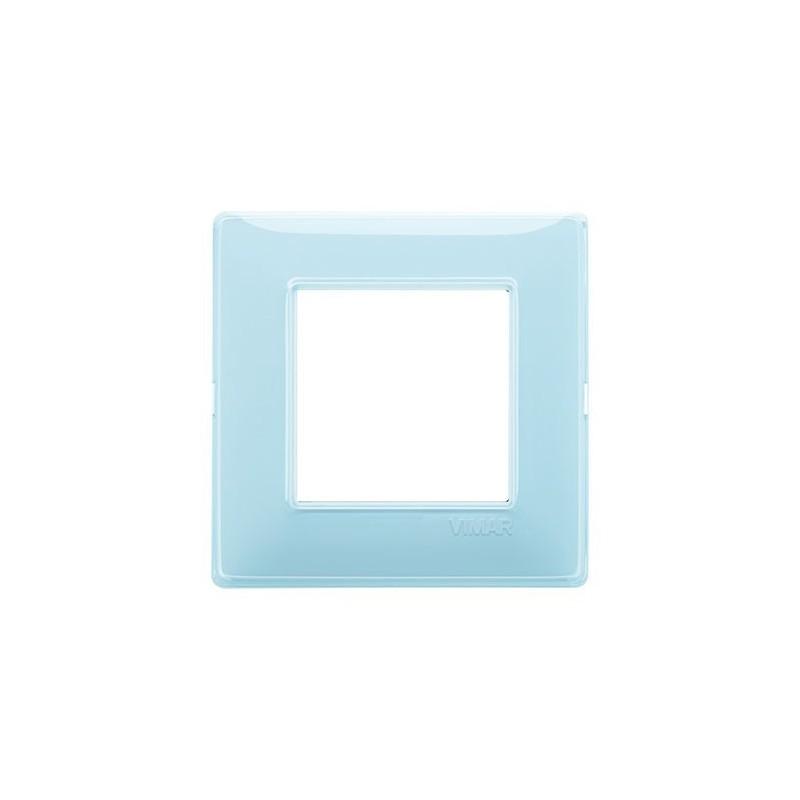 placca acqua reflex riflettente, 2 moduli posti, codice 14642.45, costruita in tecnopolimero