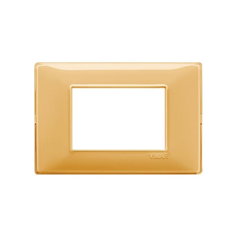 placca ambrata ambra 14653.43 reflex 3 posti moduli, vimar plana, miglior prezzo prezzi on line vendita catalogo colori
