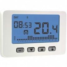 Cronotermostato Settimanale a Batterie Chronos Key Bianco