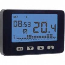 VE726600 Vemer Cronotermostato Settimanale a Batterie Chronos Key Nero
