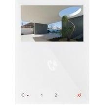 Videocitofonia comelit, codice 6721W, monitor videocitofono a colori con viva voce