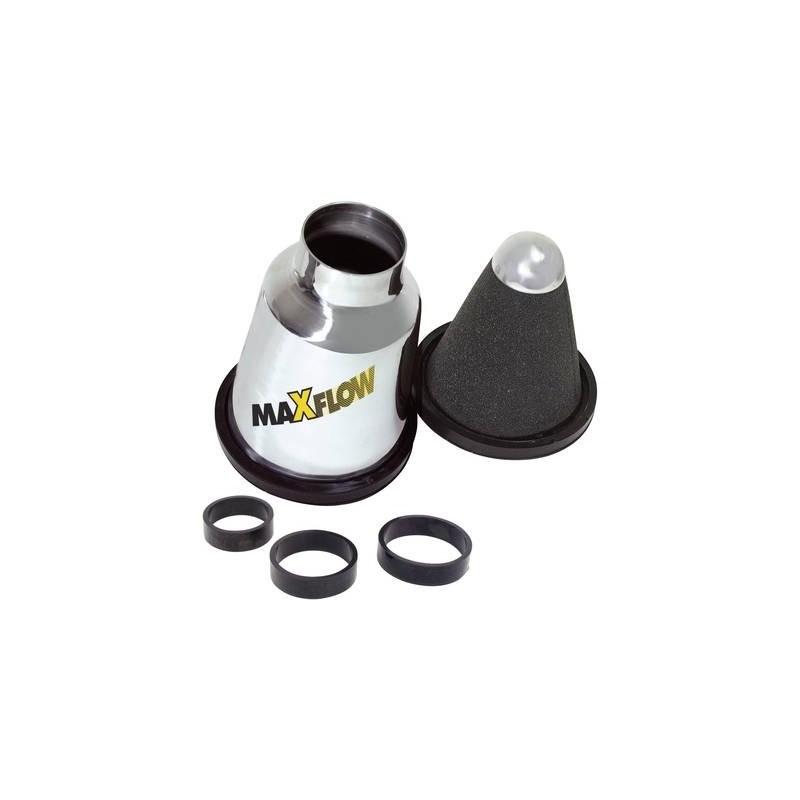 Filtro aria plastica 1:8 con adattatore in silicone nero reely
