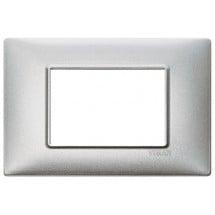 Placca Argento Metallizzato 3, 4, 7 Moduli Metallo Vimar Plana