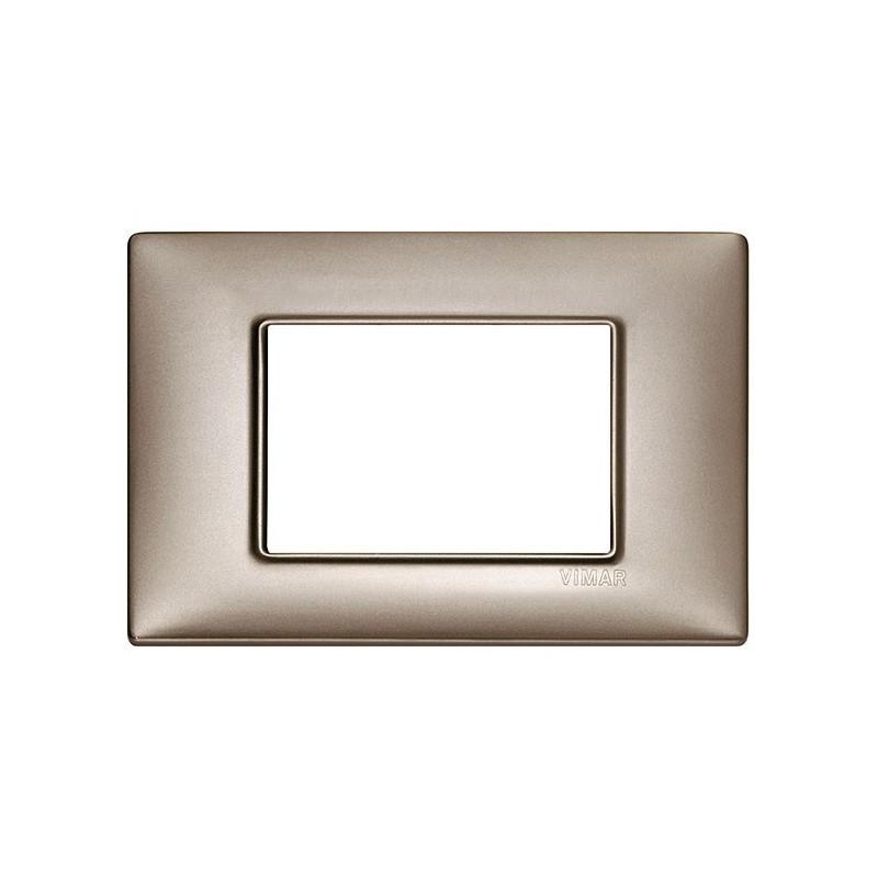 placca vimar plana, costruita in metallo, 3 moduli posti, miglior prezzo e prezzi online vendita