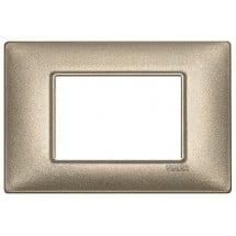 Placca Bronzo Metallizzato 2 ,3 Moduli Vimar Plana Metallo