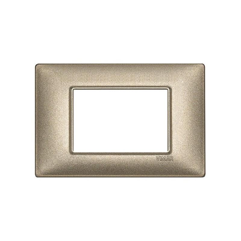 placca serie vimar plana 3 posti, codice 14653.70, miglior prezzo on line