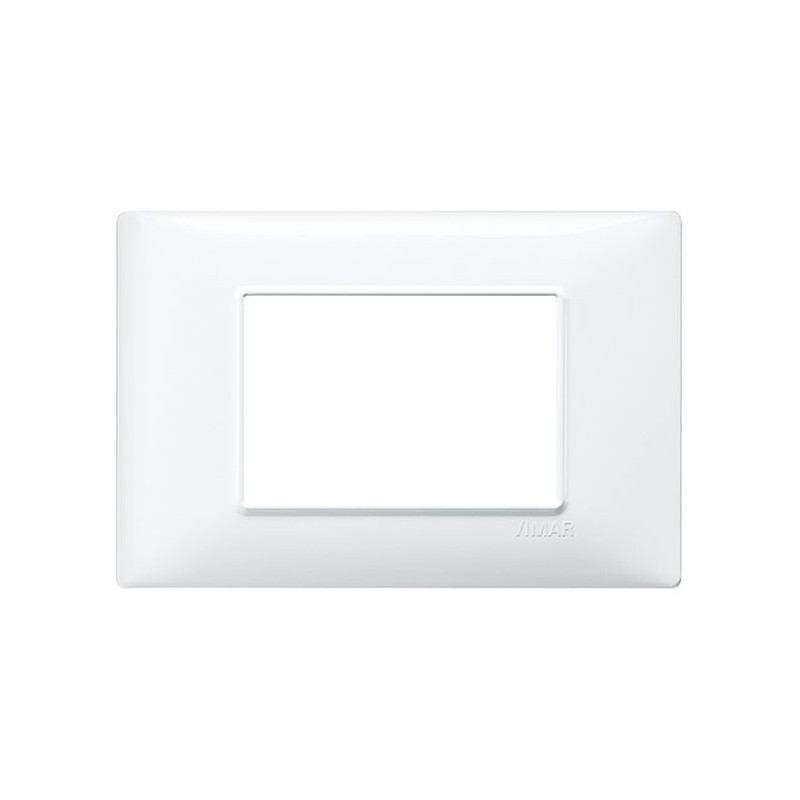 placca bianco vimar plana, miglior prezzo vendita online, 3 posti