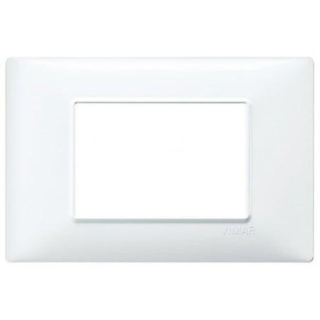 Placca Bianca Vimar Plana 1, 2, 3, 4, 6, 7, 14, 21 Moduli Tecnopolimero Bianco