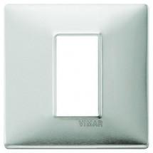 Placche Vimar Plana alluminio spazzolato metallo, migliori prezzi online vendita e catalogo, 1 posto centrale