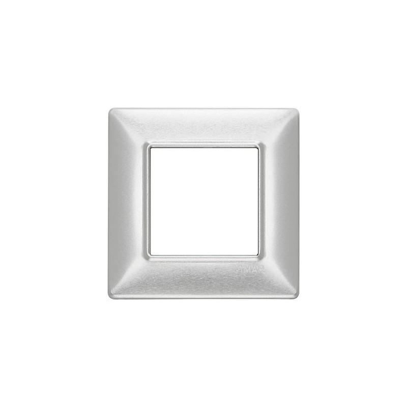 Placche Vimar Plana alluminio spazzolato metallo, migliori prezzi online vendita e catalogo, 2 posti