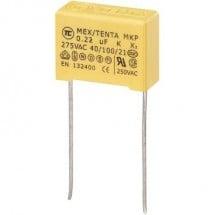 TRU COMPONENTS MKP-X2 1 pz. Condensatore antidisturbo MKP-X2 radiale 0.22 µF 275 V/AC 10 % 15 mm (L x L x A) 18 x 7.5 x