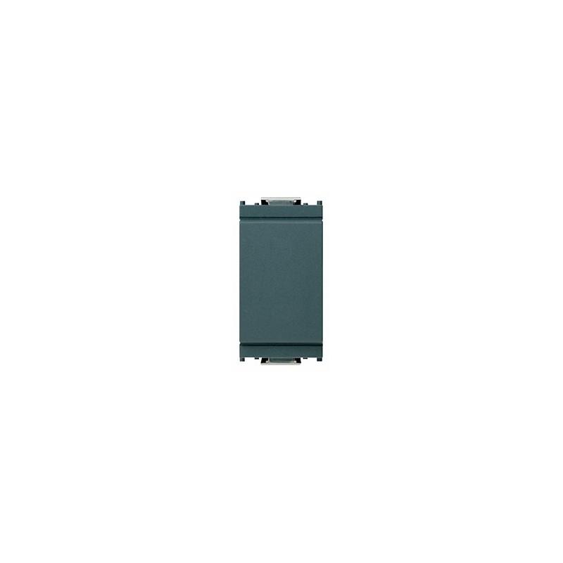 Copri interruttore grigio liscio serie Vimar Idea 16542, tasto falso.