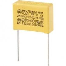 Condensatore per la soppressione dei radiodisturbi MKP-X2 cablaggio radiale 0,68 µF 275 V/AC 10% 22,5 mm (L x P x A)
