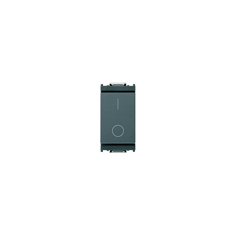 Vimar Idea Interruttore 16A, 250 V~, 2 Posti Moduli, Color Grigio, codice 1601