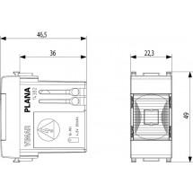 Lampada con LED ad alta efficienza 230 V~ 50-60 Hz, dispositivo automatico d'emergenza, batteria ricaricabile sostituibile