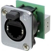 Connettore per dati RJ45 EtherCon® serie D Presa dritta Poli: 8P8C NE8FDP-SE Nero Neutrik NE8FDP-SE 1 pz.