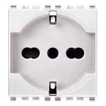 presa bianca universale 16 ampere 250v, bipolare con terra vimar eikon