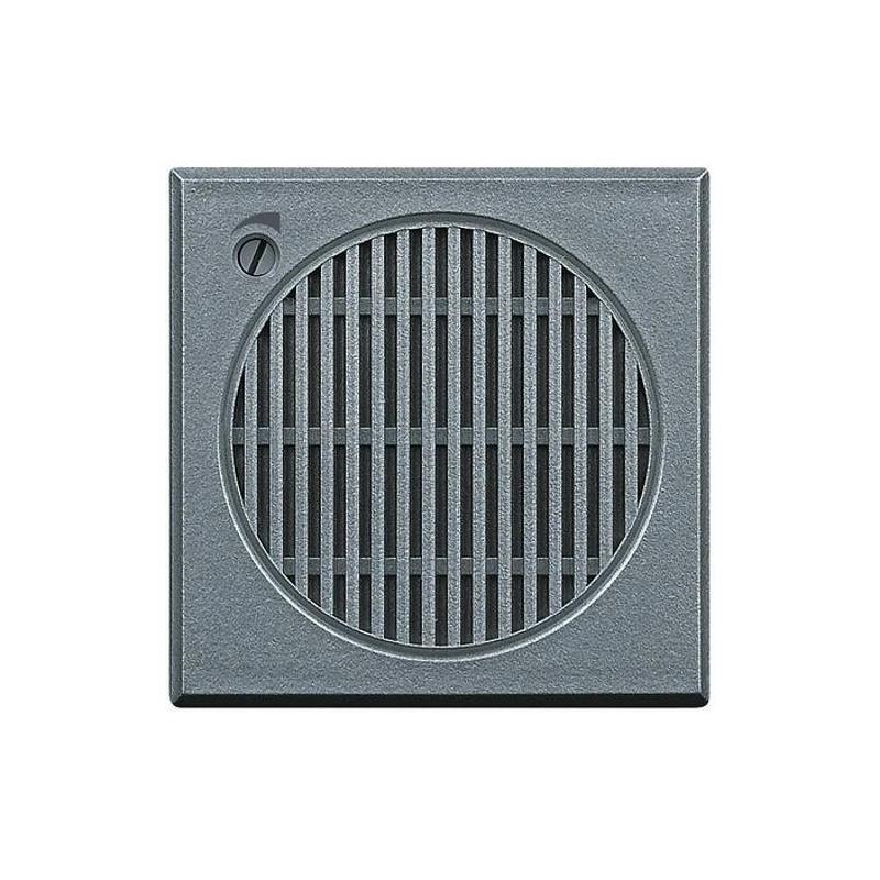 Suoneria elettronica - 3 suoni diversi - regolazione volume frontale - 12 Vac/d.c. - grigio tech