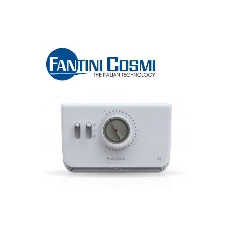 Termostato ambiente c61 per ventilconvettori fan coil for Termostato fantini cosmi c48 prezzo