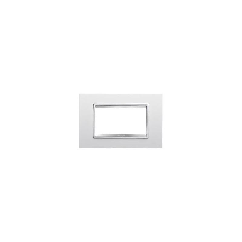 Placca Chorus Lux - 3 Posti - Bianco Latte