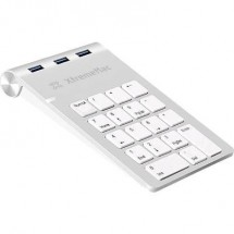 Tastierino Numerico Usb Xtrememac Xm-Nphub33-Slv Porta Usb Argento/Bianco