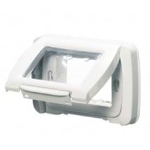 Placca Autoportante Stagna Ip55 3 Posti Bianco Nuvola Gewiss System GW22451