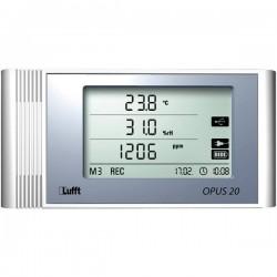 Data logger multifunzione Lufft 8120.21 Misura: Temperatura, Umidità dellaria, CO2 -20 fino a 50 °C 10 fino a 95 % ur