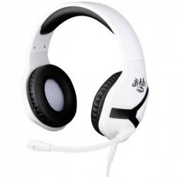 Konix NEMESIS PS5 HEADSET Cuffie Jack 3,5 mm Filo Cuffia Over Ear Nero/Bianco