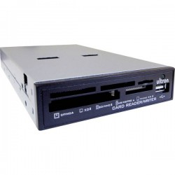 Ultron UCR Lettore schede di memoria integrato per server USB 2.0 Nero