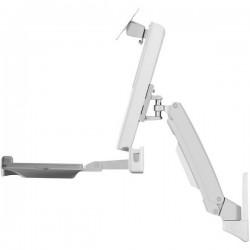ICY BOX IB-MS600-W 1 parte Supporto a muro per monitor 25,4 cm (10) - 61,0 cm (24) Regolabile in altezza, Ripiano per