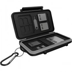 ICY BOX 60751 Astuccio per schede di memoria Scheda SD, Scheda microSD, Scheda CFast Nero/grigio