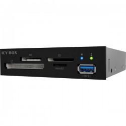 ICY BOX IB-872-i3 Lettore da incasso di schede di memoria 3,5 SD, microSD, USB 3.0 Nero
