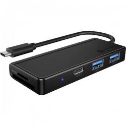 ICY BOX 60796 Mini Dockingstation USB-C™ Adatto per marchio: universale lettore di schede integrato