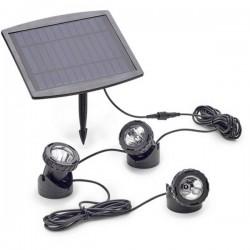 Pontec 77939 Illuminazione per stagno Kit da 3 LED (monocolore) 0.5 W Nero