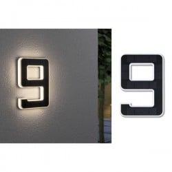 Paulmann 79850 Lampada solare per numero civico 0.20 W Bianco caldo Nero