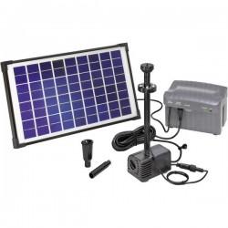 Esotec Napoli LED 101774 KIT pompa solare con illuminazione, con batteria tampone 750 l/h