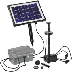 Esotec Palermo LED 101775 KIT pompa solare con illuminazione, con batteria tampone 330 l/h