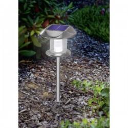 Esotec Lampada solare da giardino Sunny 102093 LED (monocolore) Bianco caldo, Bianco neutro acciaio inox