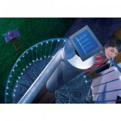 Esotec 102156 Luce solare esterno a energia solare Numero di lampadine 48 LED (monocolore) Bianco Lunghezza illuminata: