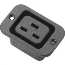 Connettore IEC C19, presa, montaggio verticale numero totale di poli: 2 + PE 16 A nero 1 pz.