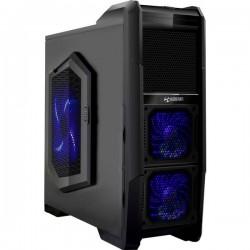 Ultron Monster M1 Midi-Tower PC Case Nero-Blu 3 ventole LED pre-montate, con controllo ventola