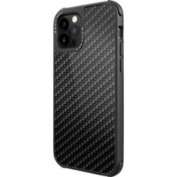 Black Rock Robust Real Carbon Backcover per cellulare Apple Nero