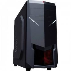 Rasurbo Midi-Vort-X II Midi-Tower Contenitore, PC Case da gioco Nero/Rosso 1 ventola LED pre-montata