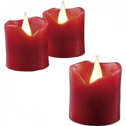 Hellum 572117 LED con candela di cera Kit da 6 Rosso Giallo (Ø x A) 4 cm x 4.2 cm