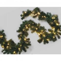 Hellum 577976 Ghirlanda per porte illuminata Bianco caldo LED (monocolore) Verde