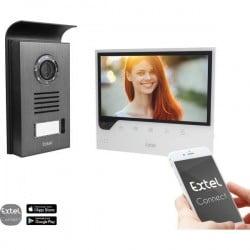 Extel 720308 Kit completo Video citofono IP WLAN, 2 fili Casa Monofamiliare Nero, Bianco